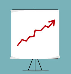 growing chart presentation vector image