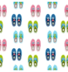 gumshoes seamless pattern shoes background vector image