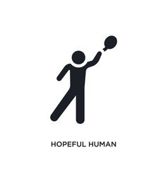 Hopeful human isolated icon simple element from vector