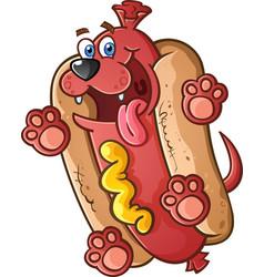 hot dog puppy cartoon character vector image