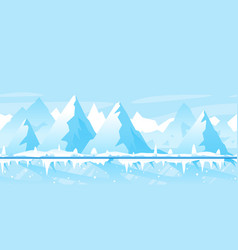ice path through winter mountains vector image
