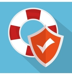 icon insurance flood design vector image