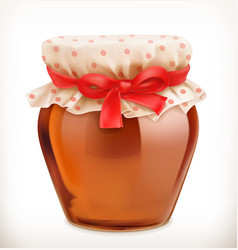 Jar of honey 3d icon vector
