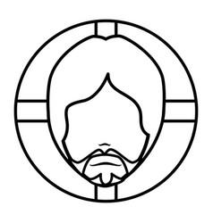 Jesuschrist avatar character icon vector