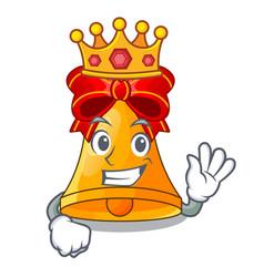 King golden christmas bell isolated on mascot vector