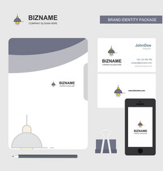 light business logo file cover visiting card and vector image
