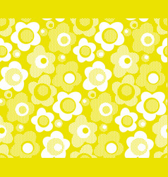 lime color stylized floral seamless pattern vector image