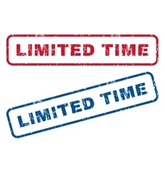 Limited time rubber stamps vector