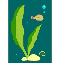 Little fish underwater vector image