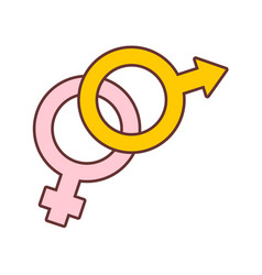 male and female couple symbol graphic vector image