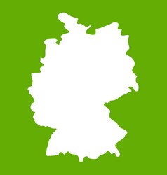 map of germany icon green vector image