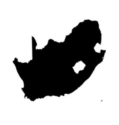 map south africa isolated vector image