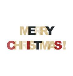 Merry christmas phrase overlap color no vector