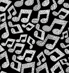 Music notes seamless pattern musical theme vector image vector image
