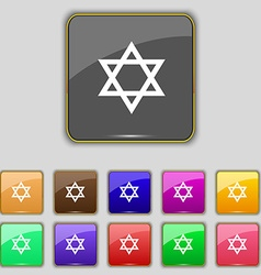 Pentagram icon sign Set with eleven colored vector