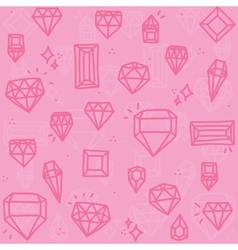 Pink diamonds vector image
