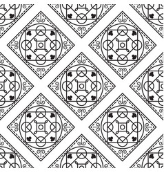 portuguese black and white mediterranean seamless vector image