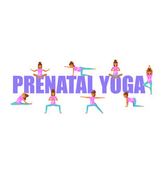 prenatal yoga for pregnant women vector image