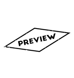 Preview rubber stamp vector