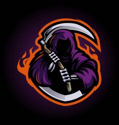 Reaper mascot logo vector