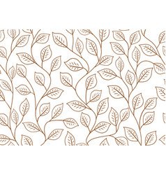 seamless linear pattern floral ornament of vector image