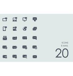 Set of e-mail icons vector