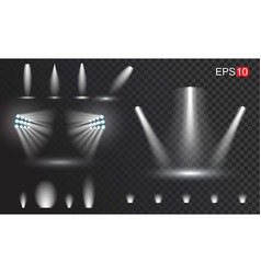 set of transparant spotlights easy to use vector image