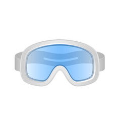 ski sport goggles in white and blue design vector image