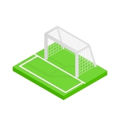 Soccer goal isometric 3d icon vector