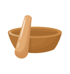Spa wooden bowl and stick vector