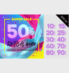 spring sale template vector image