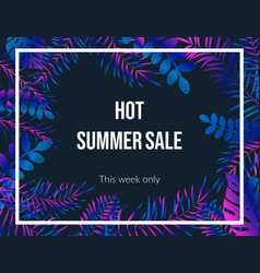summer sale poster night tropic background vector image