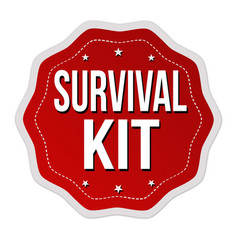 Survival kit label or sticker vector