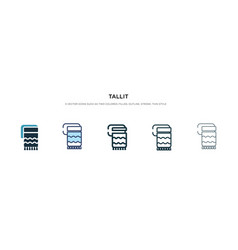 Tallit icon in different style two colored and vector