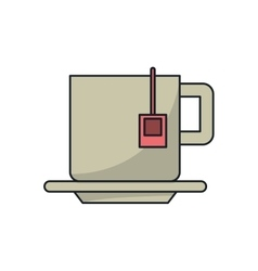Tea cup drink design vector