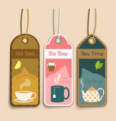 Tea labels set vector