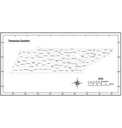 Tennessee state outline map vector