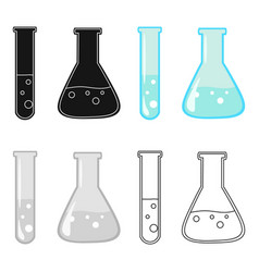 test tube and retort icon cartoon single vector image