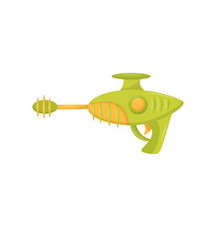 Toy space blaster weapon pistol for kids game vector