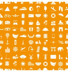 Travel and holiday big set of icons seamless vector