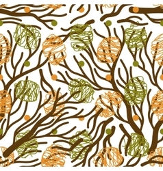 Tree branches seamless pattern vector
