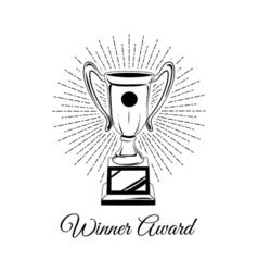 Trophy cup isolated on a white background vector image