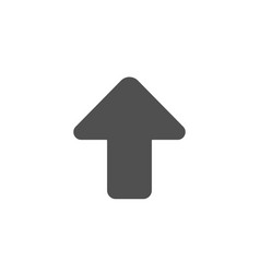 upload arrow simple icon direction arrowhead vector image