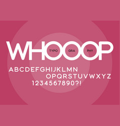 Whooop rounded regular sans serif typeface design vector