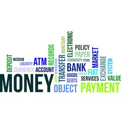 word cloud money vector image