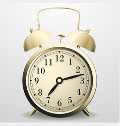 alarm clock mechanical table clock with arrows vector image