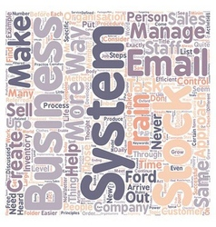 Business systems what are they text background vector image