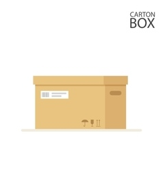 Close carton box to send mail or packages sealed vector image