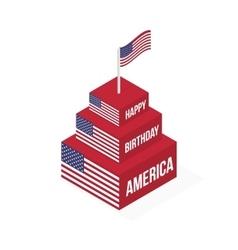 Happy Birthday America vector image vector image