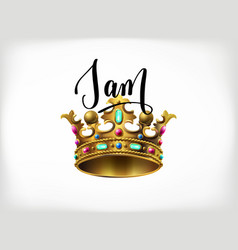 i am the king handwritten lettering poster vector image vector image